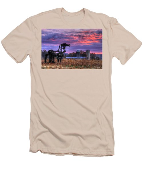 Men's T-Shirt (Athletic Fit) featuring the photograph The Legend Lives On The Iron Horse Art by Reid Callaway