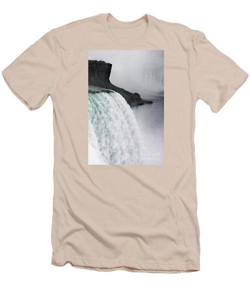 Men's T-Shirt (Slim Fit) featuring the photograph The Liquid Curtain by Dana DiPasquale