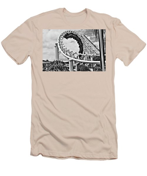 The Loop Black And White Men's T-Shirt (Athletic Fit)