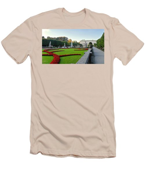 Men's T-Shirt (Slim Fit) featuring the photograph The Mirabell Palace In Salzburg by Silvia Bruno