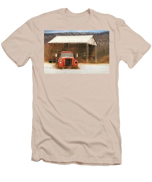 Men's T-Shirt (Slim Fit) featuring the photograph The Old Lumber Truck by Lori Deiter