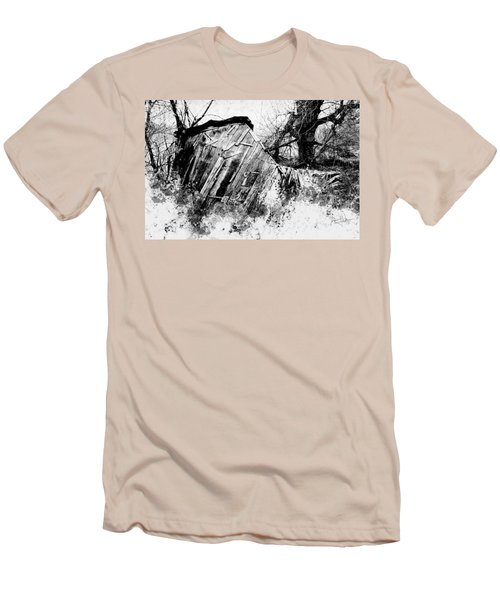Men's T-Shirt (Athletic Fit) featuring the photograph The Old Shed by Jim Vance