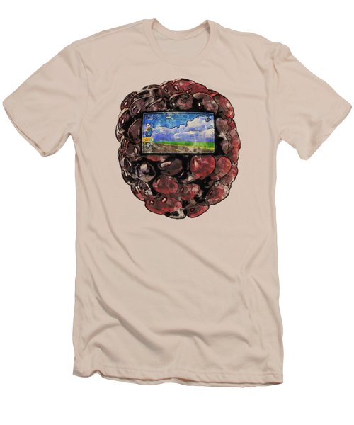 The Blackberry Concept Men's T-Shirt (Slim Fit) by ISAW Gallery
