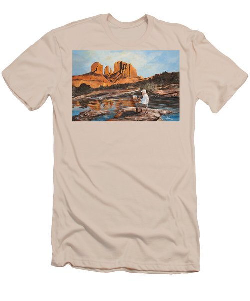 The Painter Woods Men's T-Shirt (Slim Fit) by Alan Lakin
