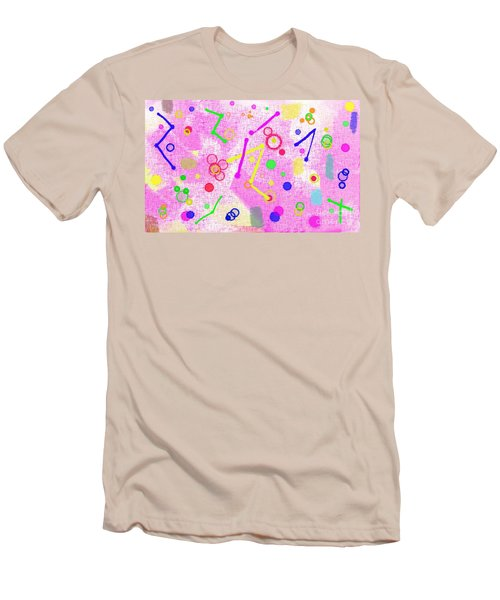 Men's T-Shirt (Athletic Fit) featuring the digital art The Party Is Here by Silvia Ganora