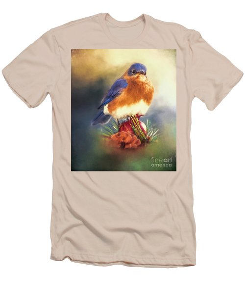The Pondering Bluebird Men's T-Shirt (Athletic Fit)