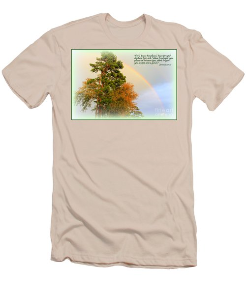 The Promises Of God Men's T-Shirt (Slim Fit) by Kathy  White