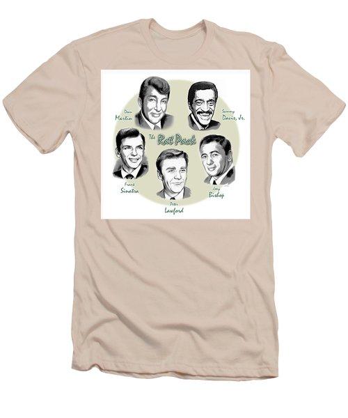 The Rat Pack Men's T-Shirt (Slim Fit) by Greg Joens