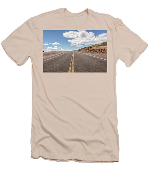 Men's T-Shirt (Slim Fit) featuring the photograph The Road Up Pikes Peak At Around 12,000 Feet by Peter Ciro