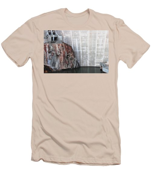The Rock Behind The Dam Men's T-Shirt (Athletic Fit)