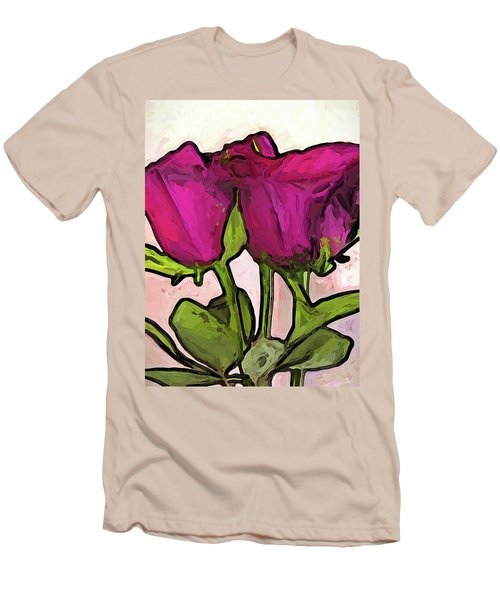 The Roses With The Green Stems And Leaves Men's T-Shirt (Athletic Fit)