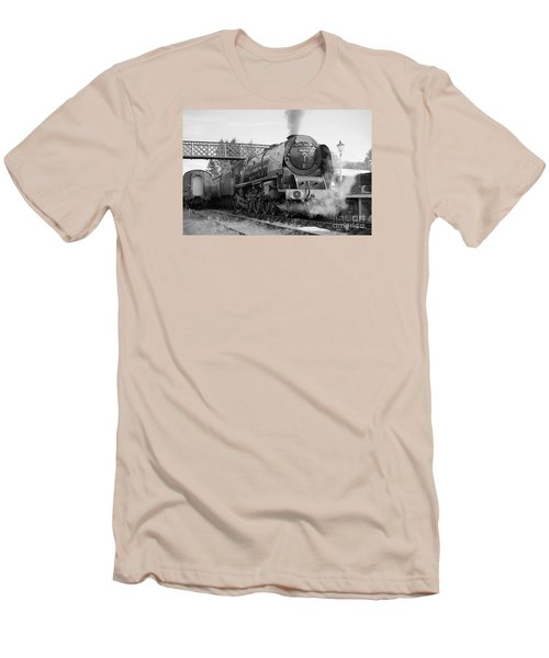 The Royal Scot In Black And White Men's T-Shirt (Athletic Fit)