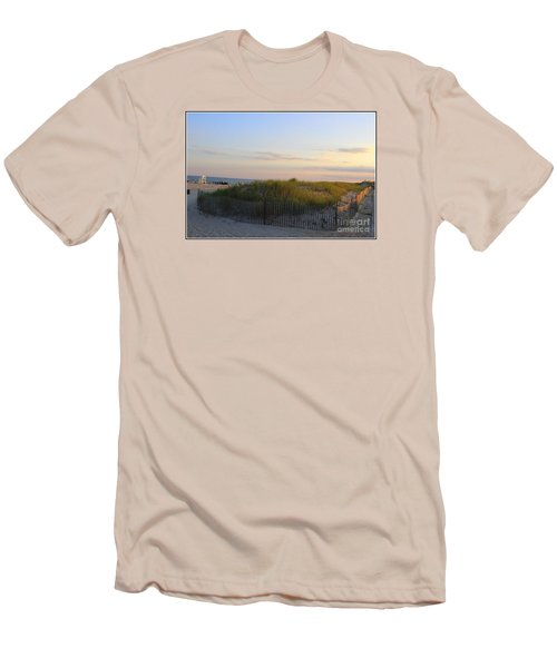 The Sand Dunes Of Long Island Men's T-Shirt (Slim Fit) by Dora Sofia Caputo Photographic Art and Design