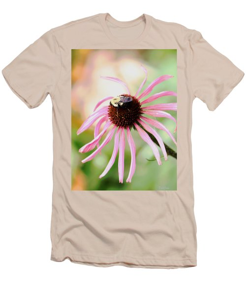 Men's T-Shirt (Slim Fit) featuring the photograph The Sharing Game by Deborah  Crew-Johnson