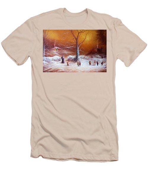 The Shire First Snowfall Men's T-Shirt (Slim Fit) by Joe Gilronan