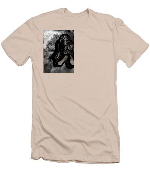 The Struggle Within Men's T-Shirt (Slim Fit) by Sheila Mcdonald