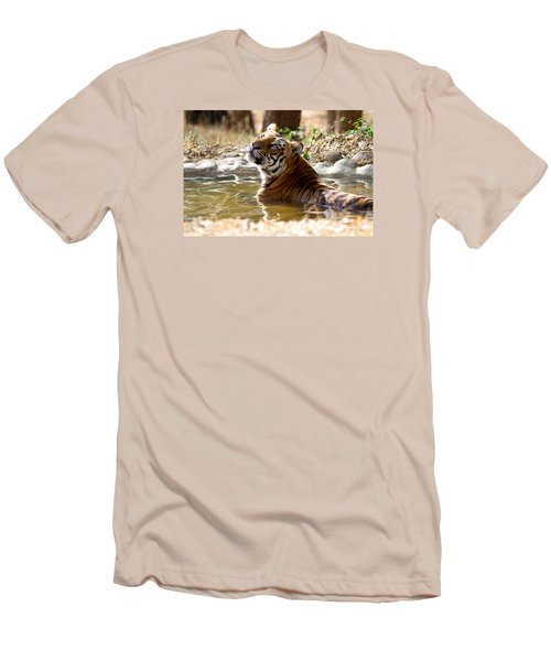 Men's T-Shirt (Slim Fit) featuring the photograph The Thinker by Ramabhadran Thirupattur