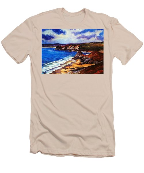 The Three Cliffs Bay Men's T-Shirt (Athletic Fit)