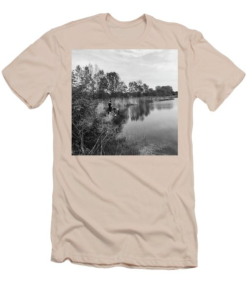 Moving The Water Men's T-Shirt (Slim Fit) by Frank J Casella