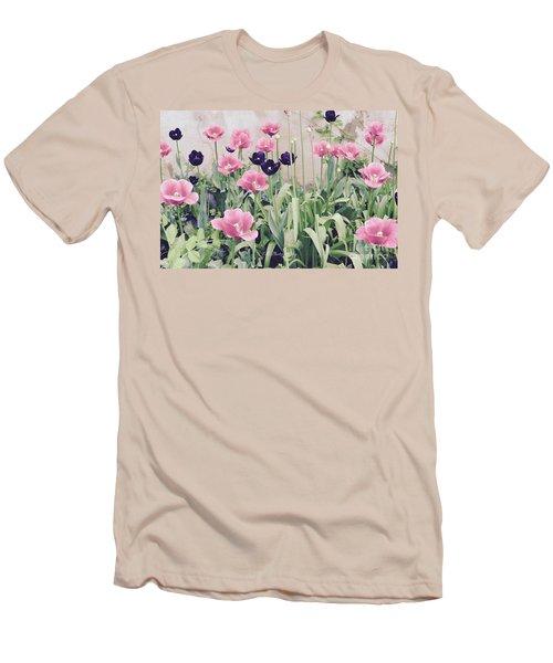 The Tulip Garden Men's T-Shirt (Slim Fit) by Jeannie Rhode
