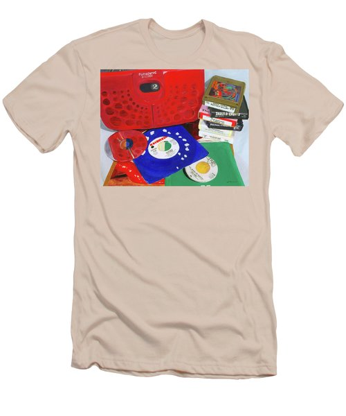 Men's T-Shirt (Slim Fit) featuring the painting The Universal Language by Lynne Reichhart