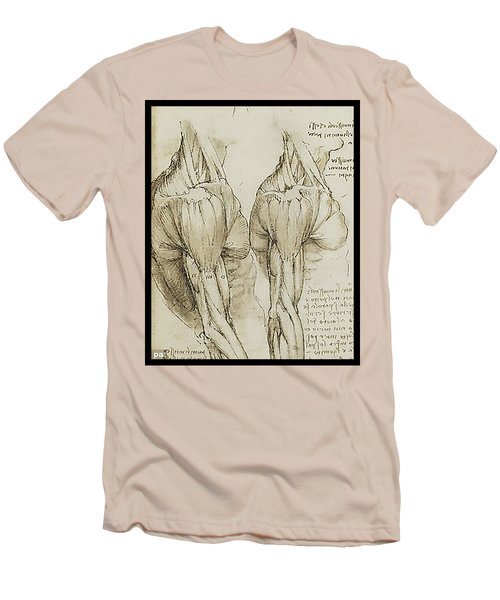 Men's T-Shirt (Slim Fit) featuring the painting The Upper Arm Muscles by James Christopher Hill
