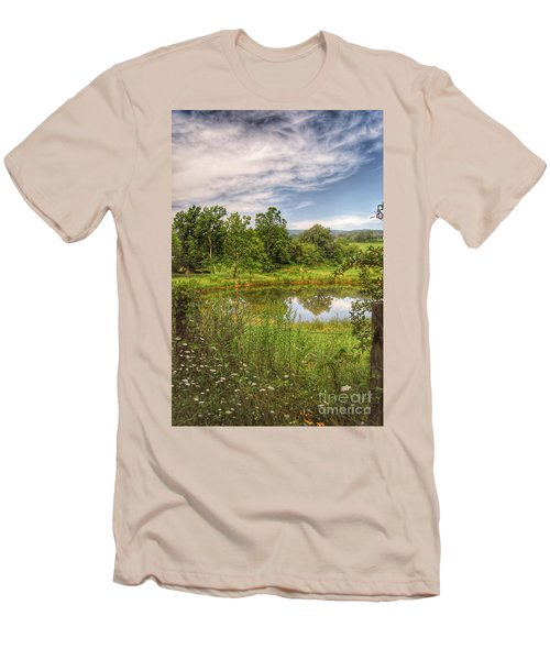 Men's T-Shirt (Athletic Fit) featuring the photograph The View Along Deerfield Trail by Kerri Farley