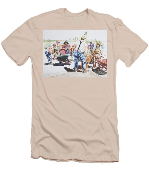 The Wheelsbarrow Band Men's T-Shirt (Athletic Fit)