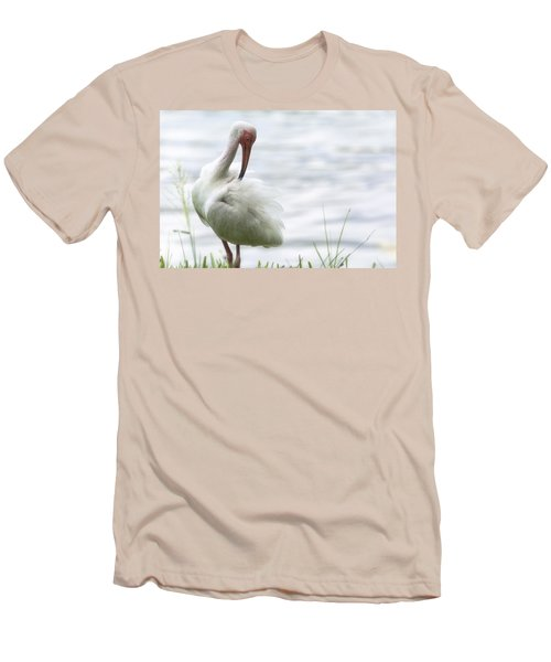 The White Ibis  Men's T-Shirt (Slim Fit) by Saija  Lehtonen