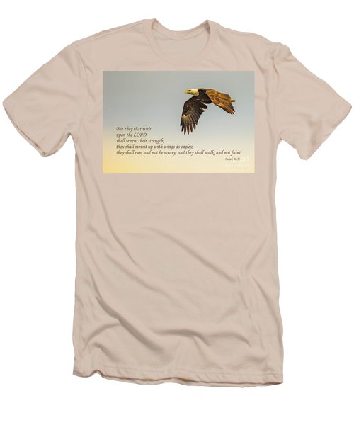 They That Wait Upon The Lord Men's T-Shirt (Slim Fit) by John Roberts