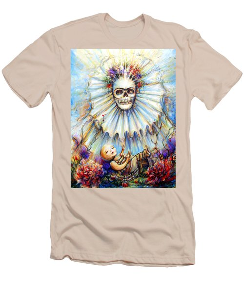 Men's T-Shirt (Slim Fit) featuring the painting Thinking About Life by Heather Calderon