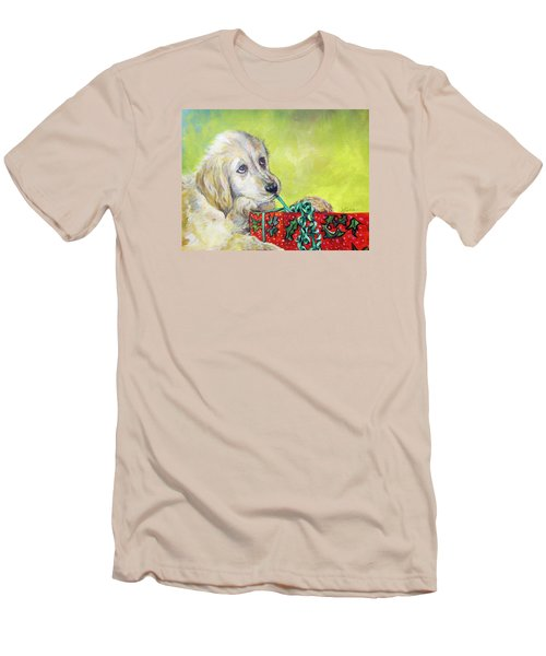 Men's T-Shirt (Slim Fit) featuring the painting This Is Mine? Right? by Donna Tucker