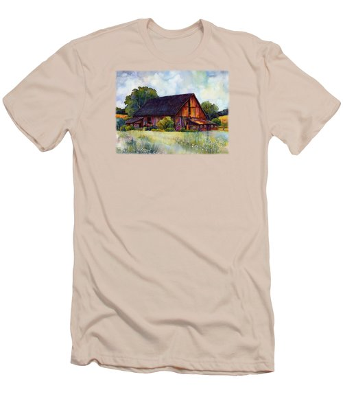 This Old Barn Men's T-Shirt (Slim Fit) by Hailey E Herrera