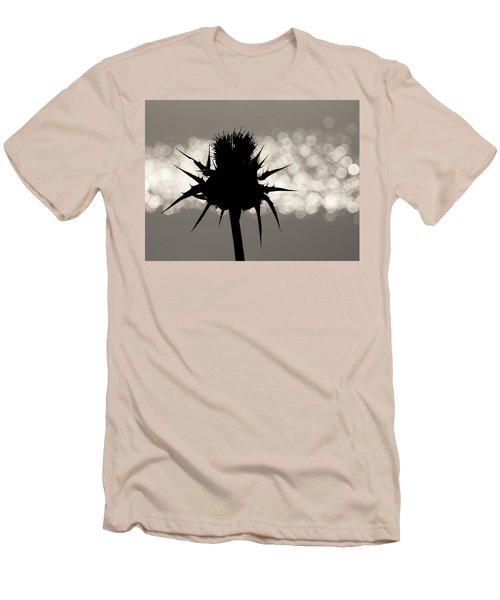 Thistle Silhouette - 365-11 Men's T-Shirt (Slim Fit) by Inge Riis McDonald