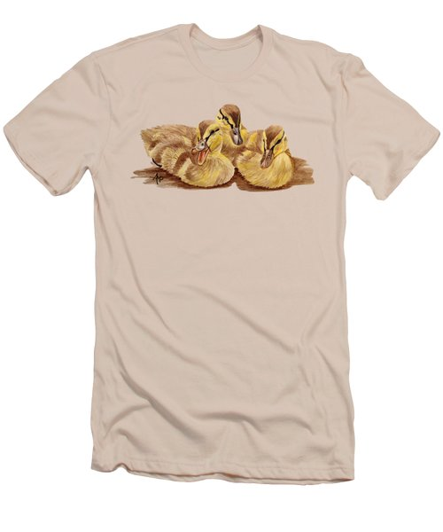 Three Ducklings Men's T-Shirt (Athletic Fit)