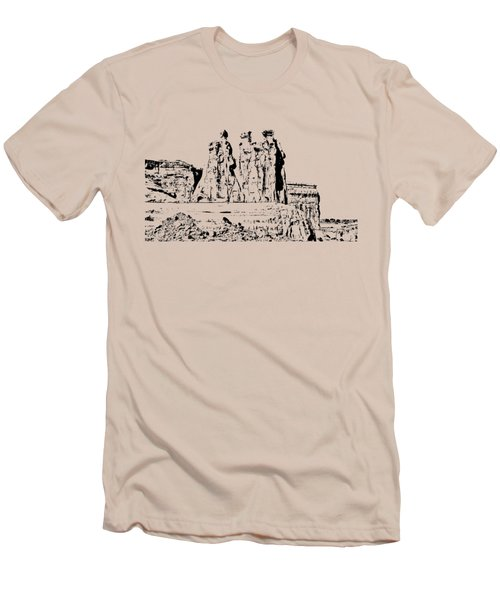 Three Gossips Drawing Men's T-Shirt (Slim Fit) by John M Bailey