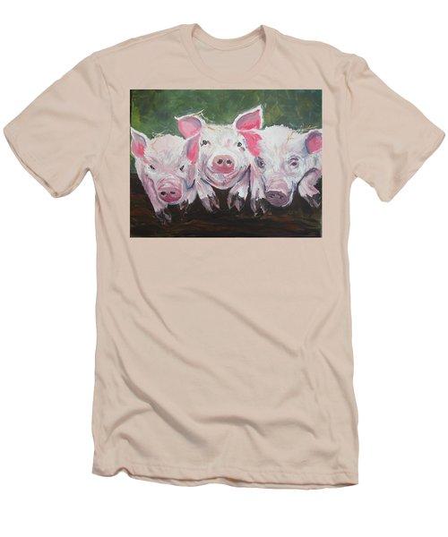 Three Little Pigs Men's T-Shirt (Athletic Fit)