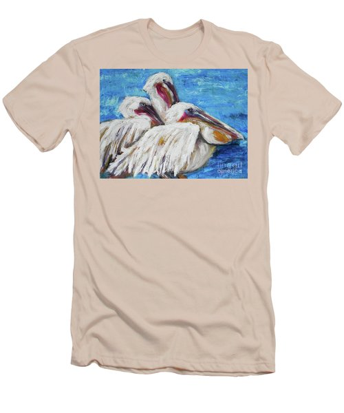 Three White Pelicans Men's T-Shirt (Athletic Fit)
