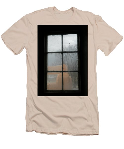 Men's T-Shirt (Slim Fit) featuring the photograph Through A Museum Window by Marilyn Hunt