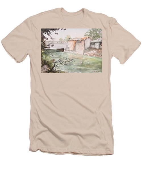 Through The Canal  Men's T-Shirt (Athletic Fit)