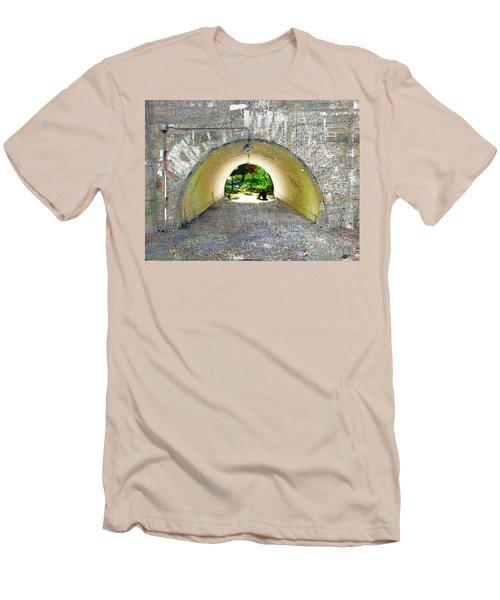 Men's T-Shirt (Slim Fit) featuring the mixed media Through by Tony Rubino