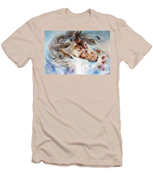 Thunder Appaloosa Indian War Horse Men's T-Shirt (Slim Fit) by Marcia Baldwin
