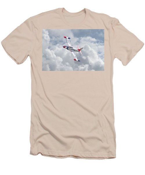 Men's T-Shirt (Slim Fit) featuring the photograph Thunderbirds - T33 by Pat Speirs