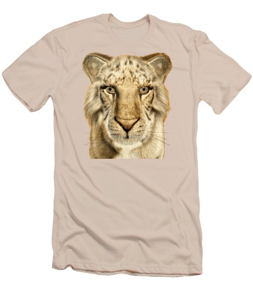 Men's T-Shirt (Slim Fit) featuring the painting Tigers by Methune Hively