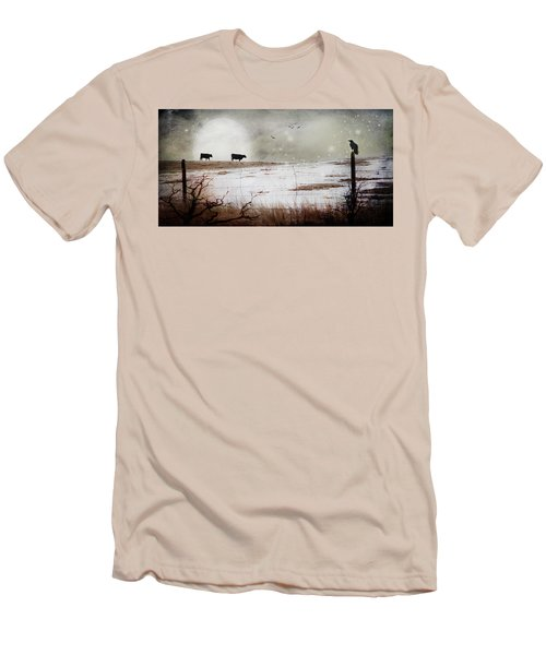 Men's T-Shirt (Slim Fit) featuring the photograph 'til The Cows Come Home by Theresa Tahara