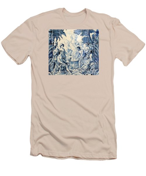Tile Art Men's T-Shirt (Slim Fit) by John Potts