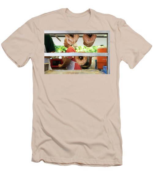 Time To Eat The Donuts Men's T-Shirt (Athletic Fit)