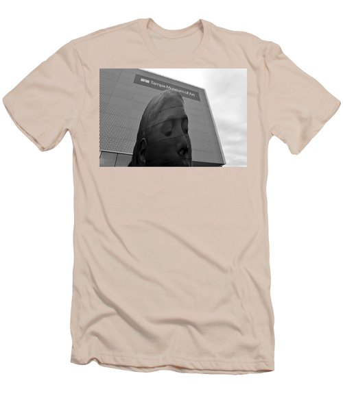 Men's T-Shirt (Slim Fit) featuring the photograph Tampa Museum Of Art Work B by David Lee Thompson