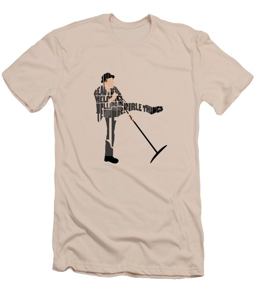 Tom Waits Typography Art Men's T-Shirt (Athletic Fit)