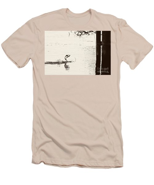 Top Water Explosion Men's T-Shirt (Slim Fit) by Scott Pellegrin